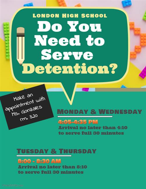 Detention info