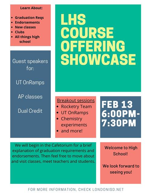 High School Course Offering Showcase