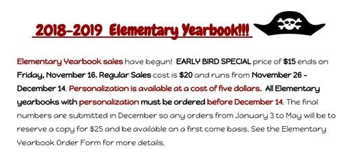 Elementary Yearbook sales